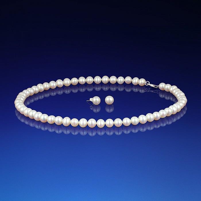 Sada perlového náhrdelníku a náušnic AA-6  7f7106f3dfe