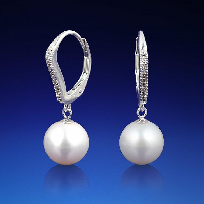 Stříbrné perlové náušnice Michela  f52a15c67a0